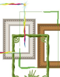 Abstract Photo Frame and Border Pack