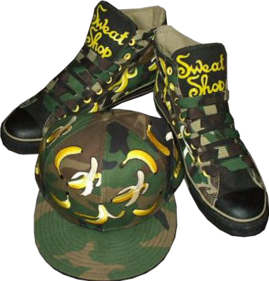 Converse: Camouflage with Banana |With Hat| PSD