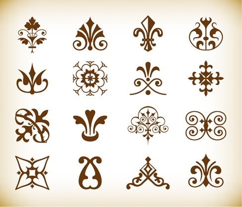 Vintage Deco Design Elements Vector Set