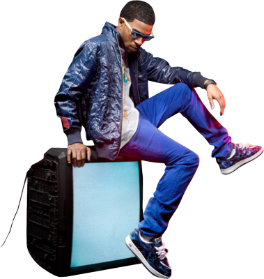 KiD CuDi Sitting On TV PSD