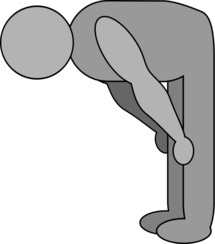 shaded bowing figure