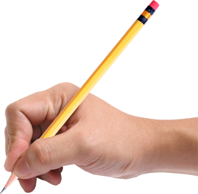 Hand Holding Pencil PSD