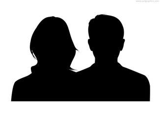 Couple silhouette, male and female (PSD)