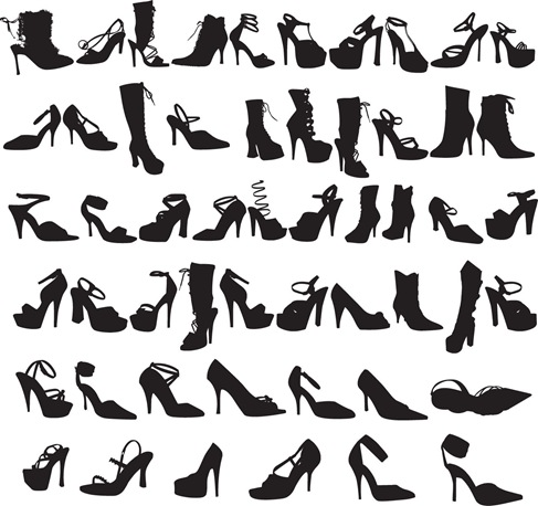 Beauty Fashion Shoes Silhouettes