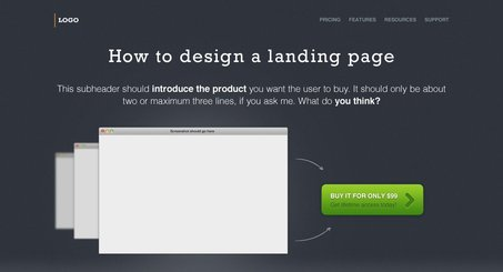 Landing Page Free PSD Template