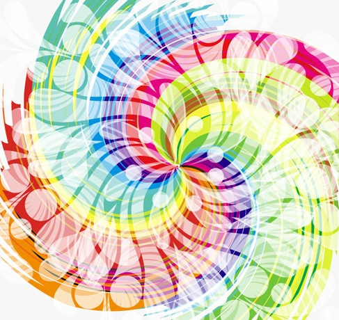 Abstract Colorful Swirl Design
