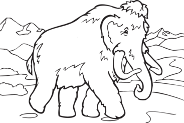 Coloring Book Mammoth