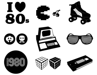 Retro Vector 80′s Elements