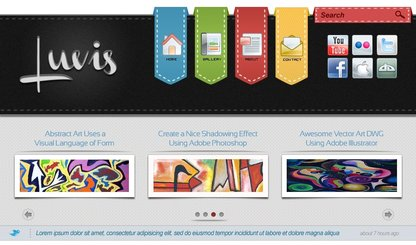 Luvis Free PSD Website Template