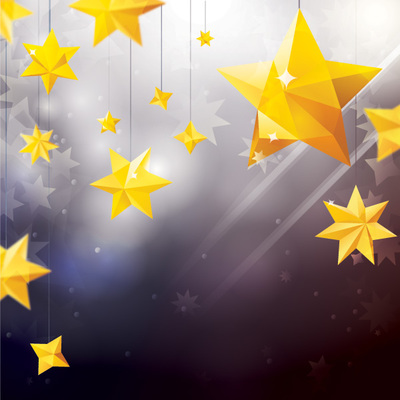 Star Ornaments with Lens Background