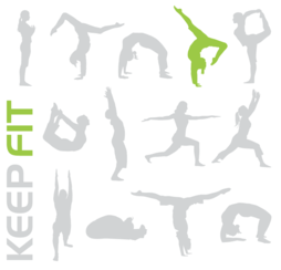 Keep fit sporty people free
