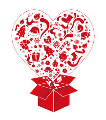 Christmas Gift Box Vector Clip Art Illustration