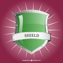 Vector glossy shield template