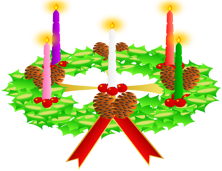 Advent wreath. Advent crown