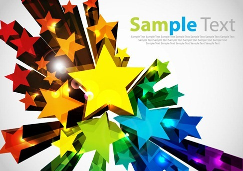 Colorful 3D Stars