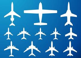 Airplanes Silhouettes Set