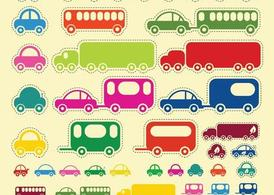 Car Truck Bus Vectors
