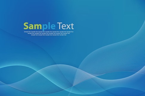 Blue Wave Curves Abstract Background