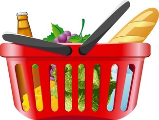 Fruits And Vegetables And Shopping Basket 01