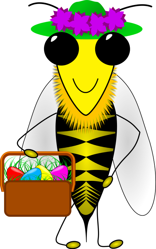 Easter Bee Clipart