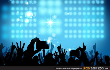 Free Concert Crowd Background Vector Free