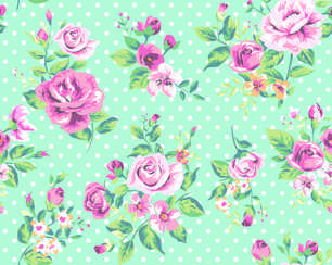 Romantic Rose vector pattern