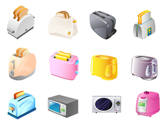 Toaster, Microwave Ovens, Electric Cookers