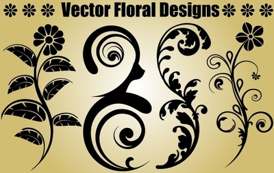 Four Floral Objects