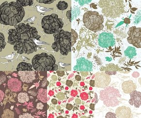 Fashionable Color Background Material. The Flowers