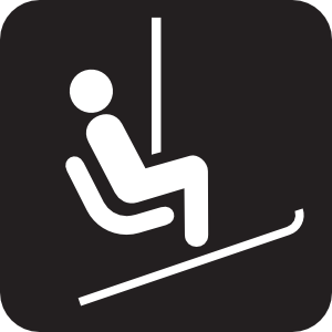 Chair Lift Ski Lift Black
