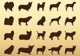 Dogs Silhouettes Set