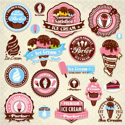 Free vector about ice cream label