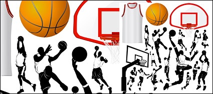 Basketball elements of the theme