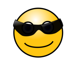Emoticons: Cool face