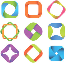 Free vector about abstract symbols