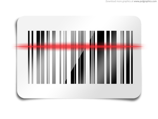 Barcode scan icon (PSD)