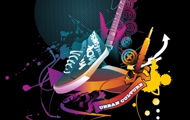 The Trend Of Music Illustration Vector Material 4 Music Trend
