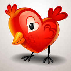 Valentine's Day Heart-shaped chicks