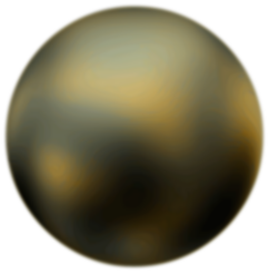 Pluto 90 Degree Face From Hubble Telescope