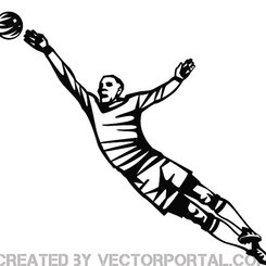 GOALKEEPER VECTOR ILLUSTRATION.eps