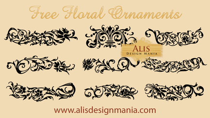 Free Vector Set: Floral Ornament Designs