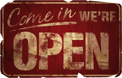 old open sign PSD