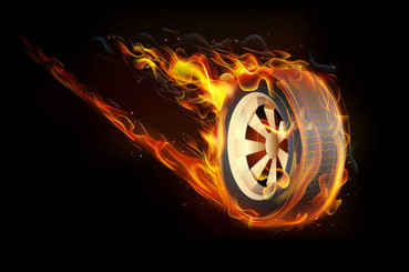 Flame tires