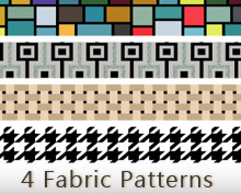 4 Fabric Inspired Vector Pattern Swatches for Illustrator