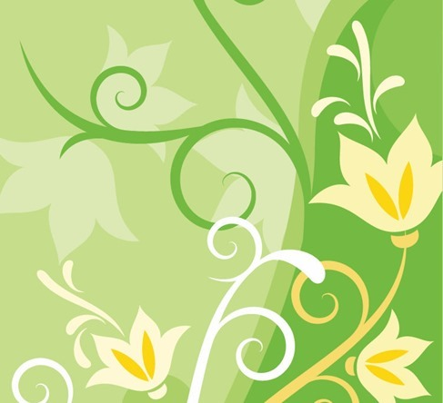 Green Floral Abstract Background Design
