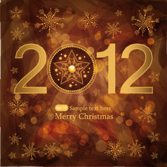 Merry Christmas 2012 vector template