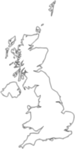 uk map outline