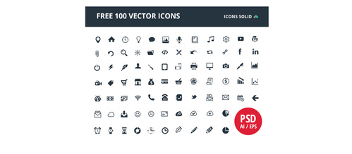 "100 , u"""""": uIcon Solid"" Glyph Web Icons Pack"
