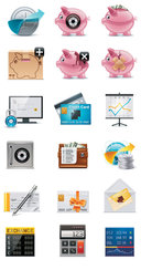 Finance and Coins Icons. Free