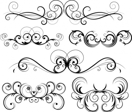 Free Ornate Vector Swirls